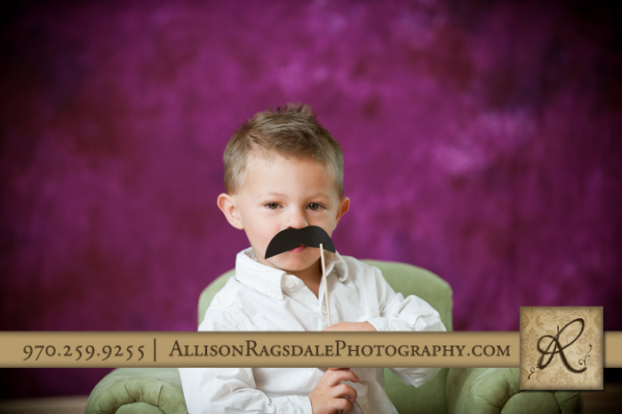 little boy mustache picture durango studio portrait
