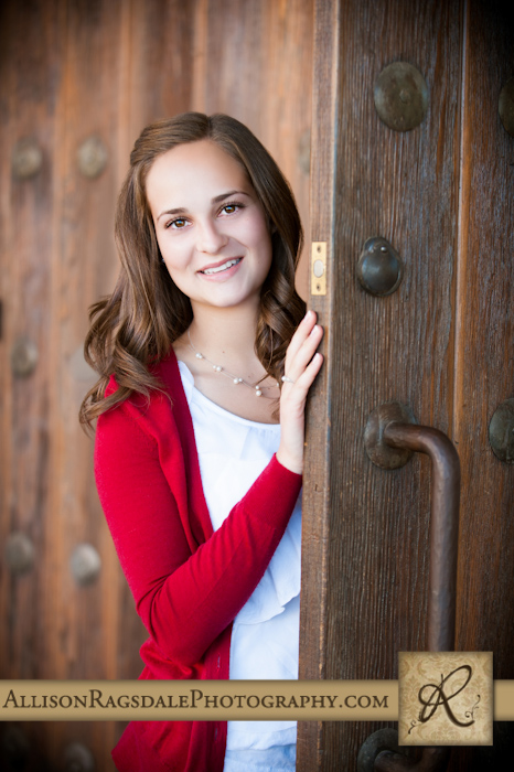 Using a door as a prop for photographs