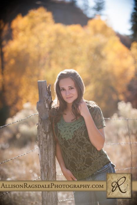 Fence prop senior portrait