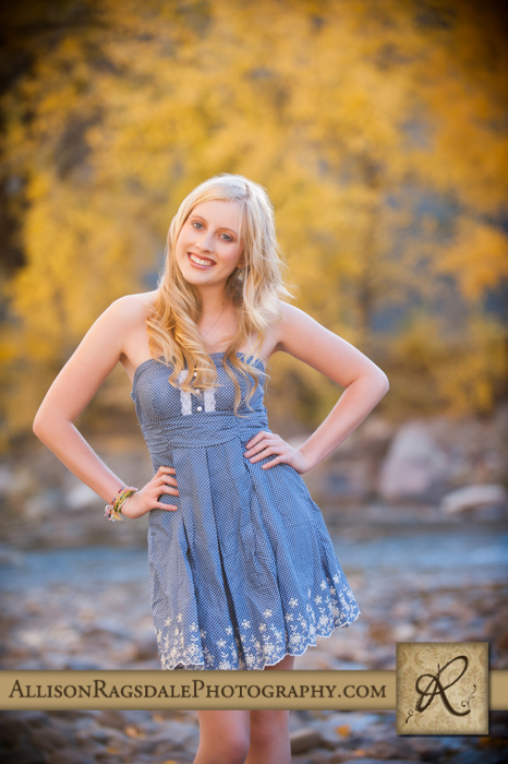 Senior Girl River Picture
