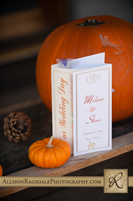 fall themed wedding programs mancos colorado