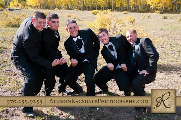 groomsmen portrait field fall colors mancos co