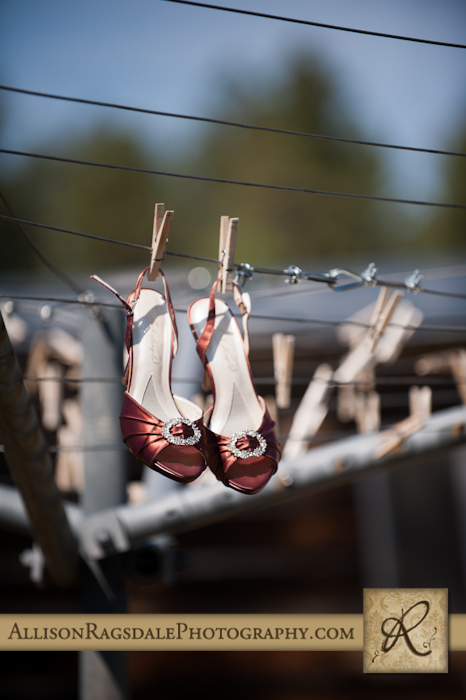 bride's shoes on clothesline mancos colorado