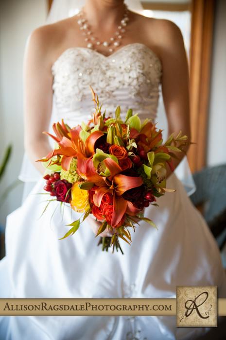 bridal bouquet by aprils garden for fall wedding durango colorado
