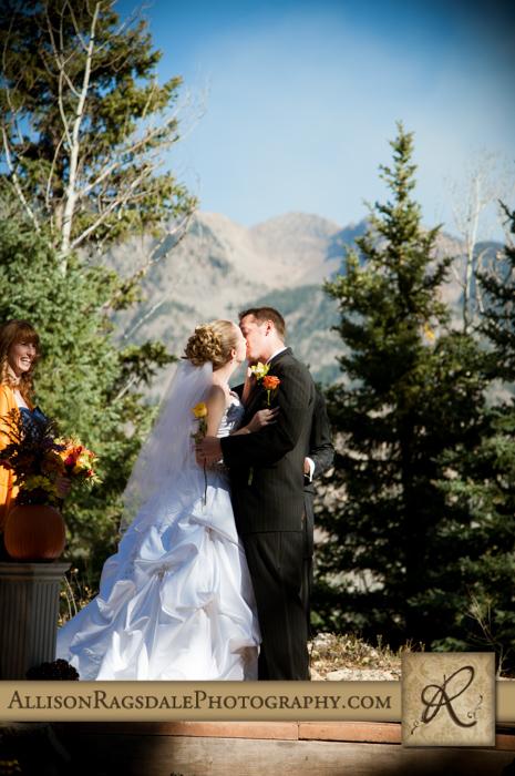 first kiss wedding ceremony boyce meadow durango co