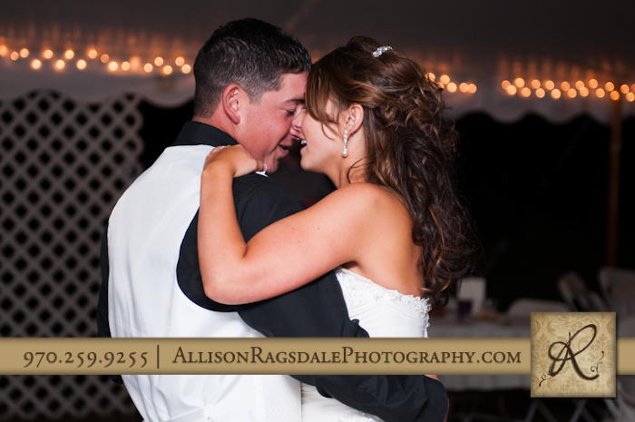 bride and groom first dance mancos wedding reception co