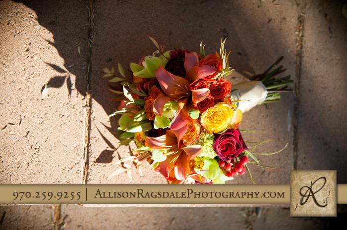 bouquet from aprils garden fall wedding durango colorado