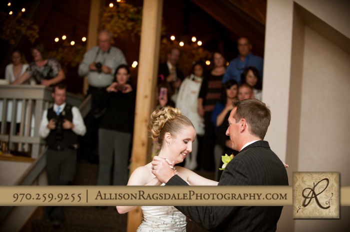first dance bride and groom wedding reception silverpick lodge