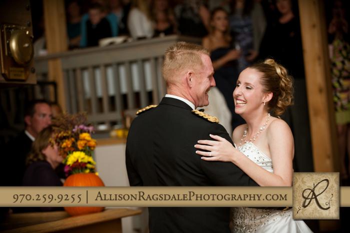 father daughter dance wedding reception silverpick lodge durango co