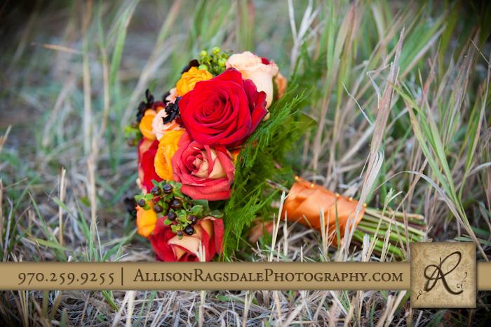 bridal bouquet mancos colorado wedding in long grass