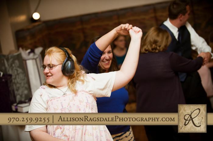 guests dancing wedding reception silverpick lodge durango co