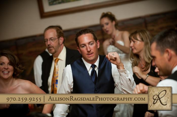 groom dancing wedding reception silverpick lodge durango co