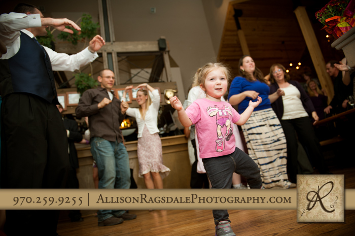 wedding reception dancing at silverpick lodge durango co