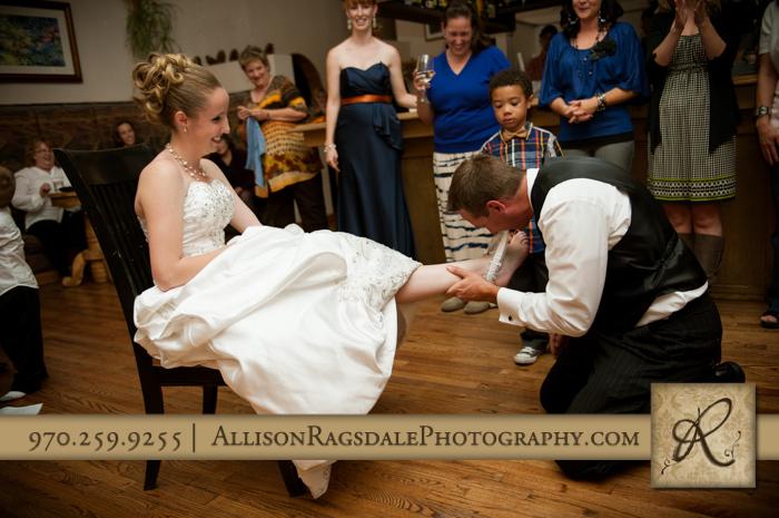 garter hunt wedding reception silverpick lodge durango co