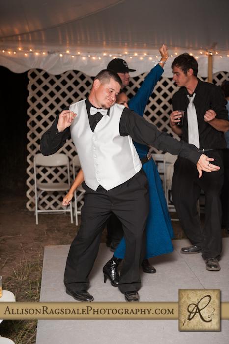 groomsman dancing wedding reception