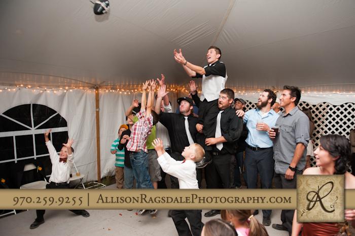 garter toss wedding reception mancos colorado