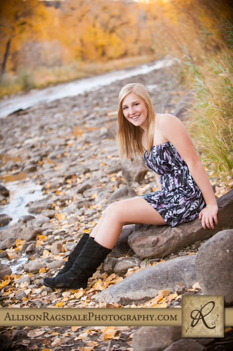 River Picture with senior girl