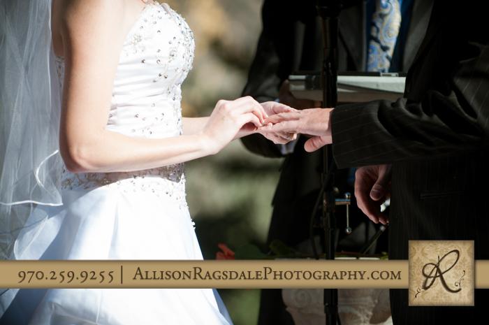exchanging rings wedding ceremony boyce meadow durango co