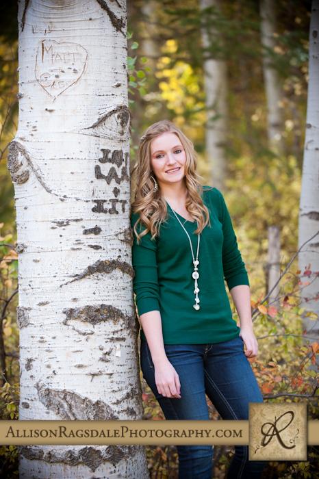 Senior Pictures on Aspen Tree