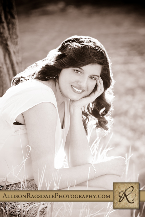 black and white senior portrait durango high school
