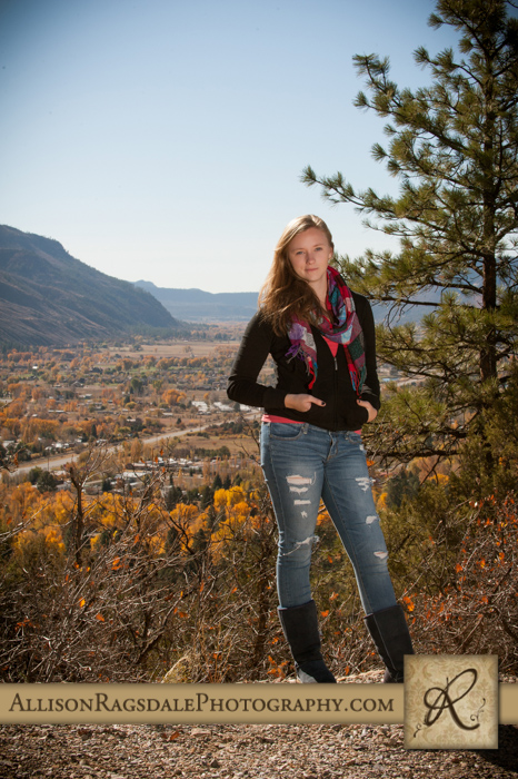 dramatic durango colorado backdrop senior picture