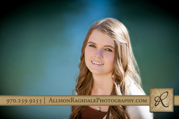senior girl picture ihs durango blue water