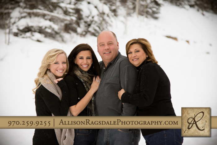Texas Family Portrait In The Colorado Snow