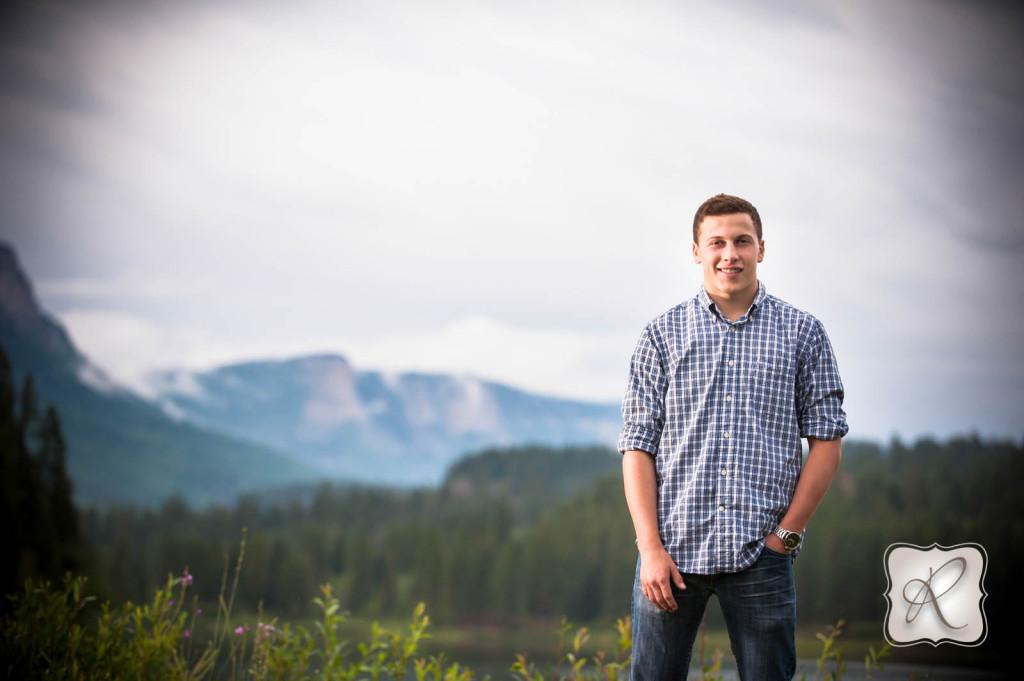 Senior Picture Durango CO Mountain Background