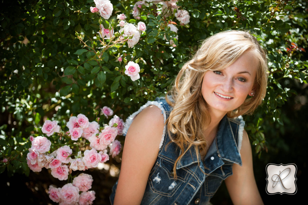 Senior Picture with Flowers
