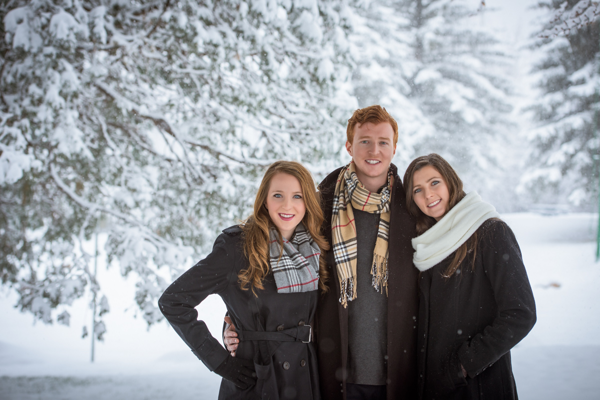 Durango Family Pictures in the snow