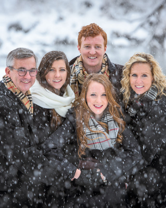 Winter Family Photos in Durango Colorado by Durango Photographer Allison Ragsdale