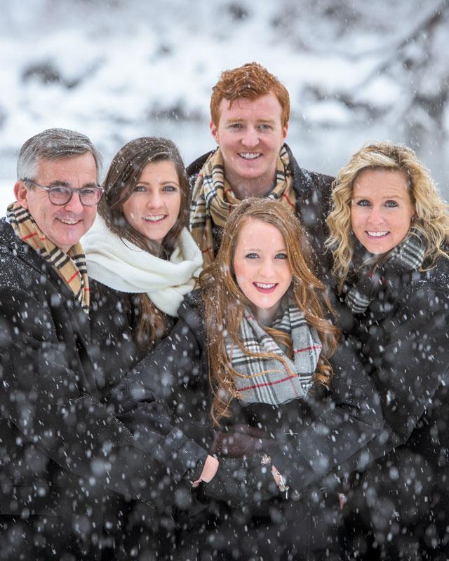 Winter Family Photos in Durango Colorado by Durango Photographer Allison Ragsdale