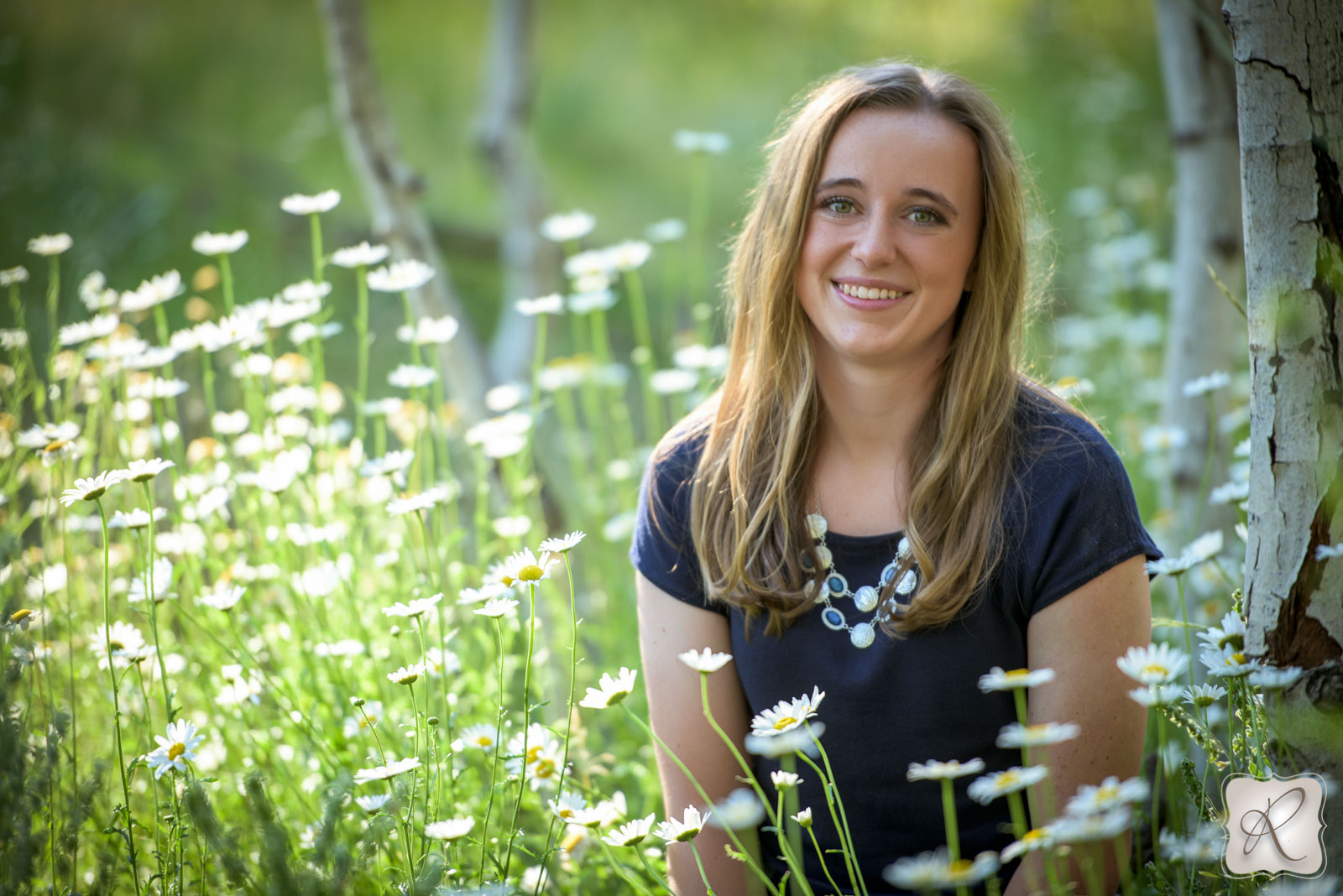 Senior pictures for Durango Colorado - field of flowers