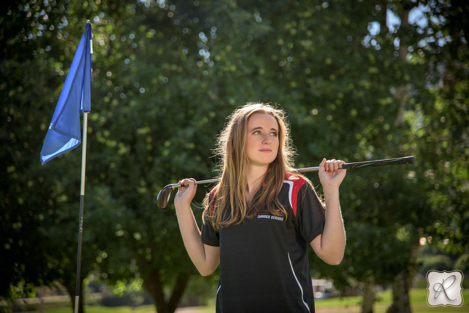 Katrina Chandler senior pictures - golf