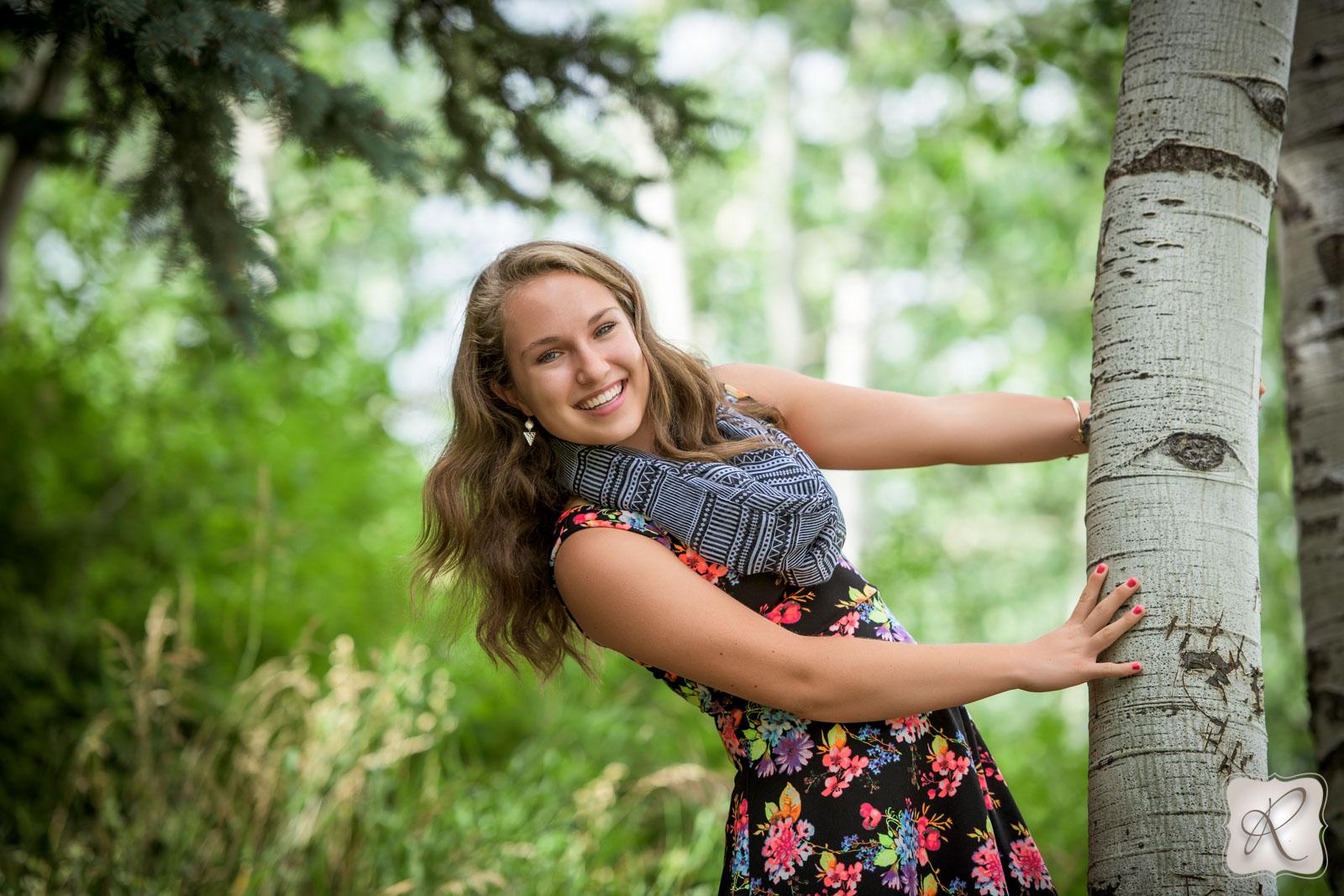 Senior pictures Bayfield Colorado - aspen trees