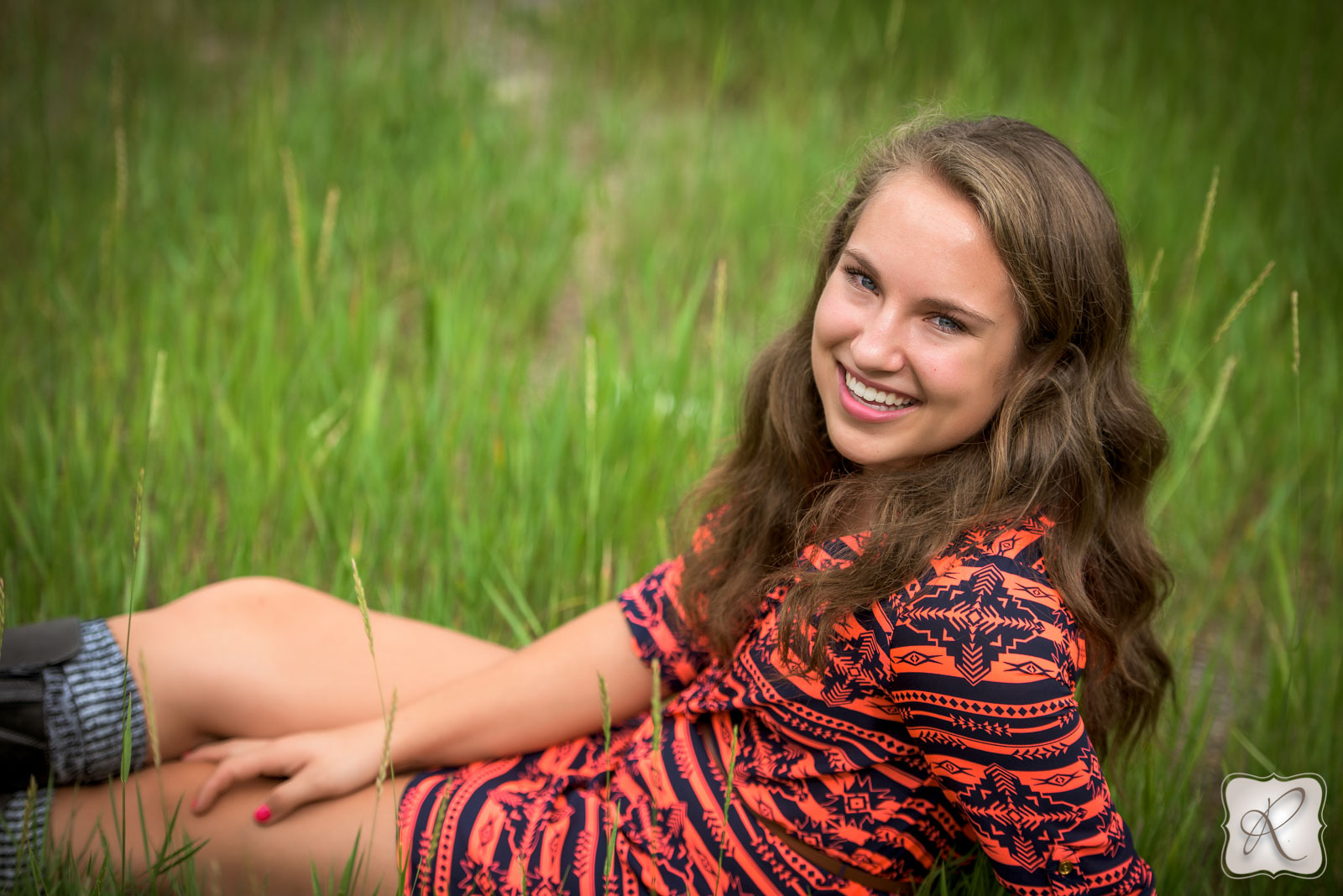 Bayfield Colorado senior pictures - red dress