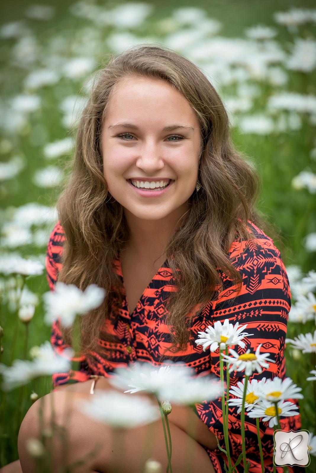 Jade Sanders senior pictures - fields of flowers
