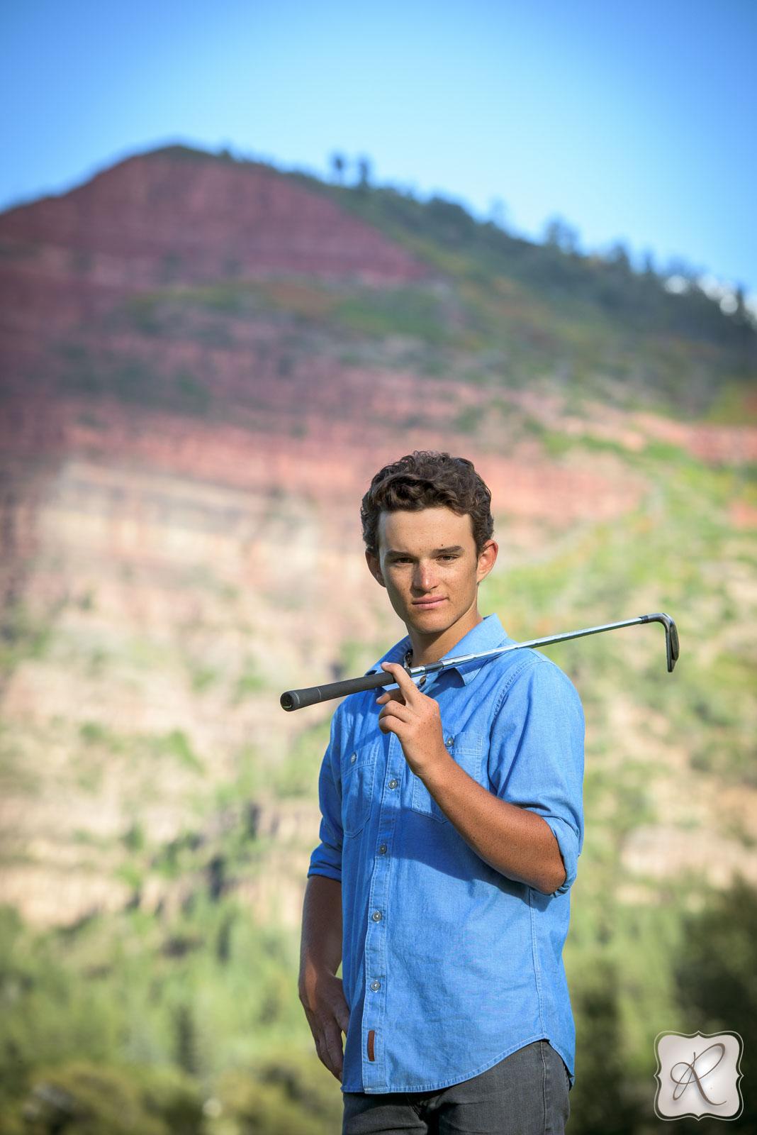Golfing Senior Pictures