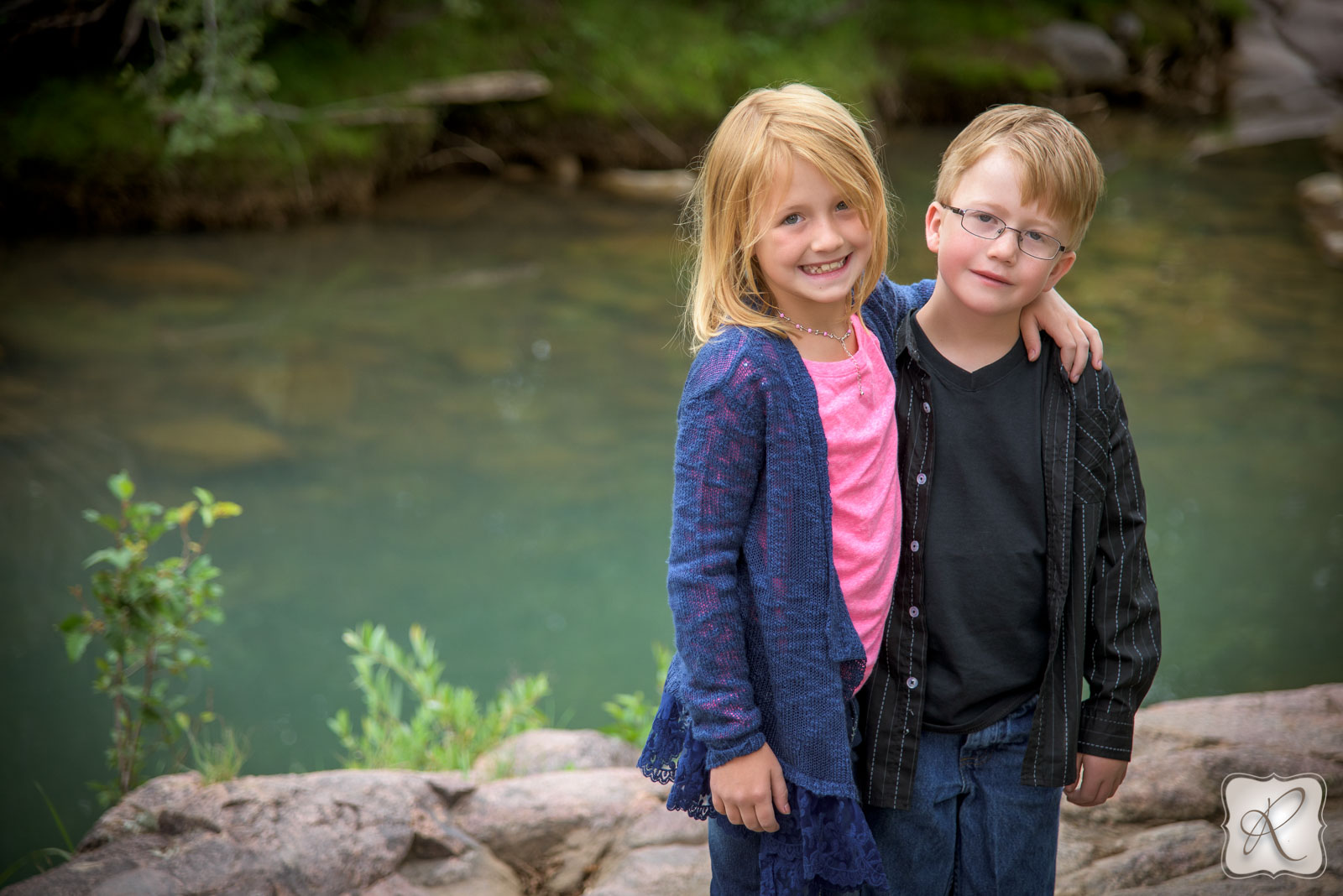 Sibling Portrait in Durango Colorado
