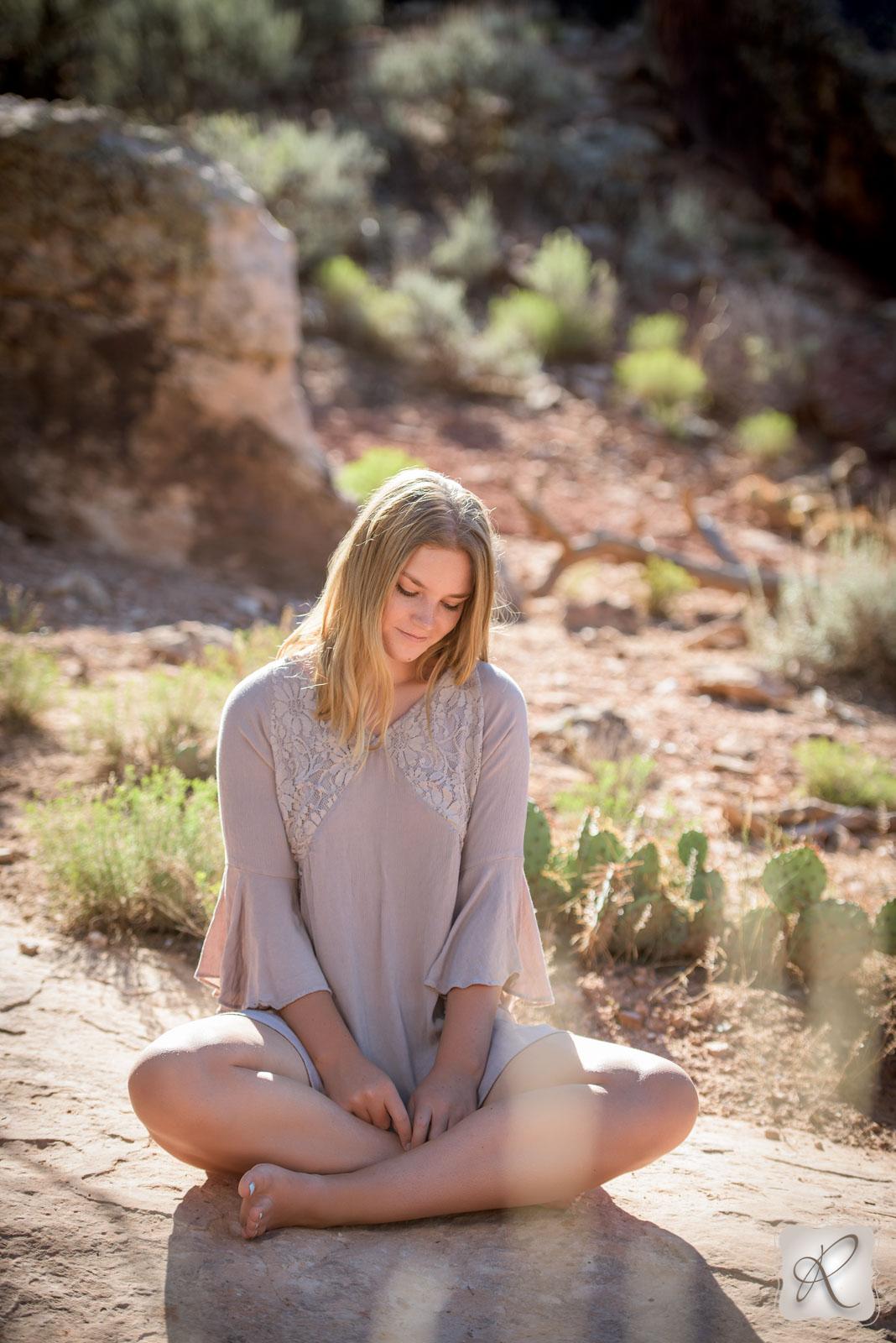 Desert Senior Portraits in Durango