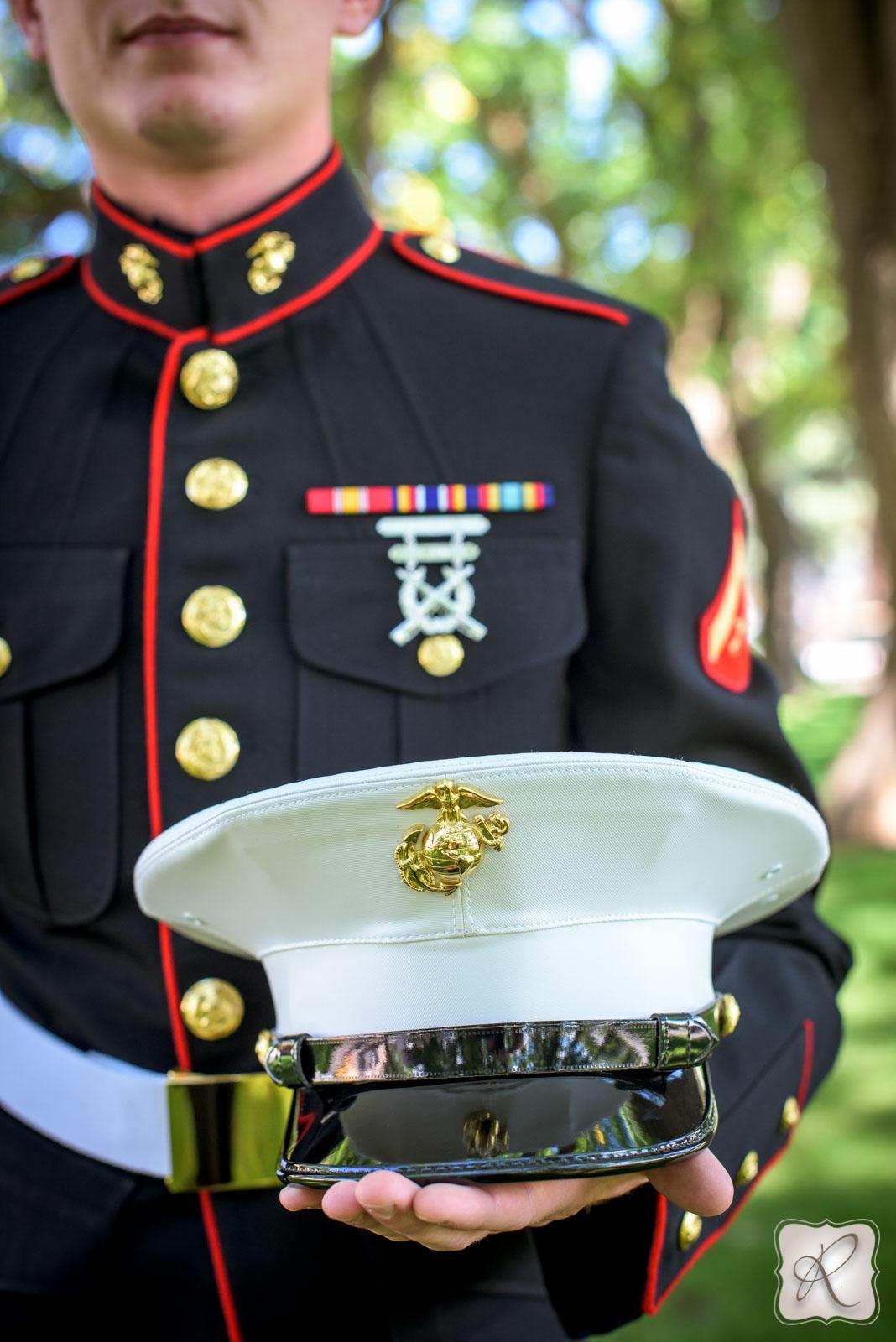 Navy Wedding Detail Photography