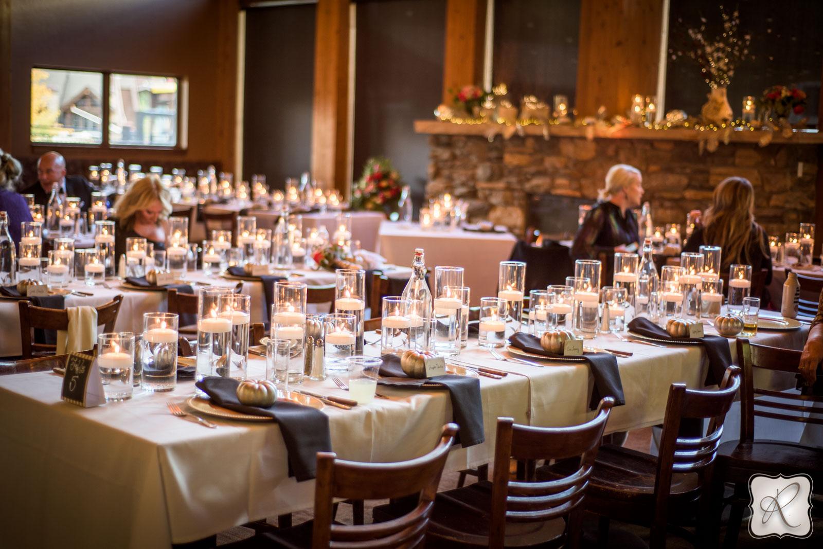 Romantic wedding receptions