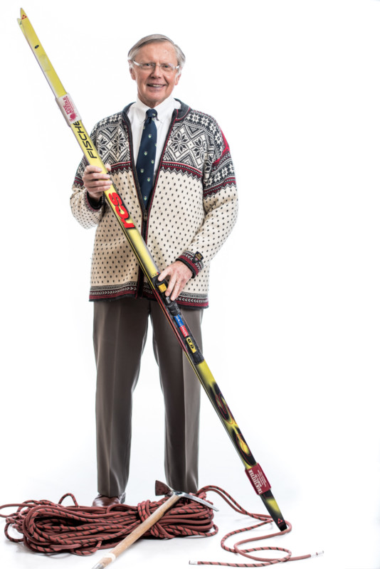 professional headshots with skis