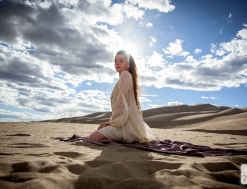 Sarah Craft at the Sand Dunes