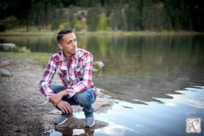 Water senior portraits Durango Colorado