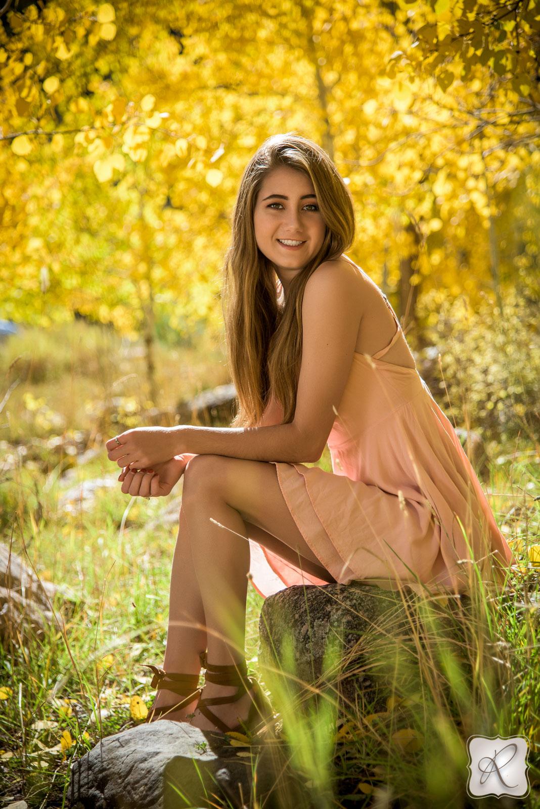 Fall senior portraits in Durango, Colorado