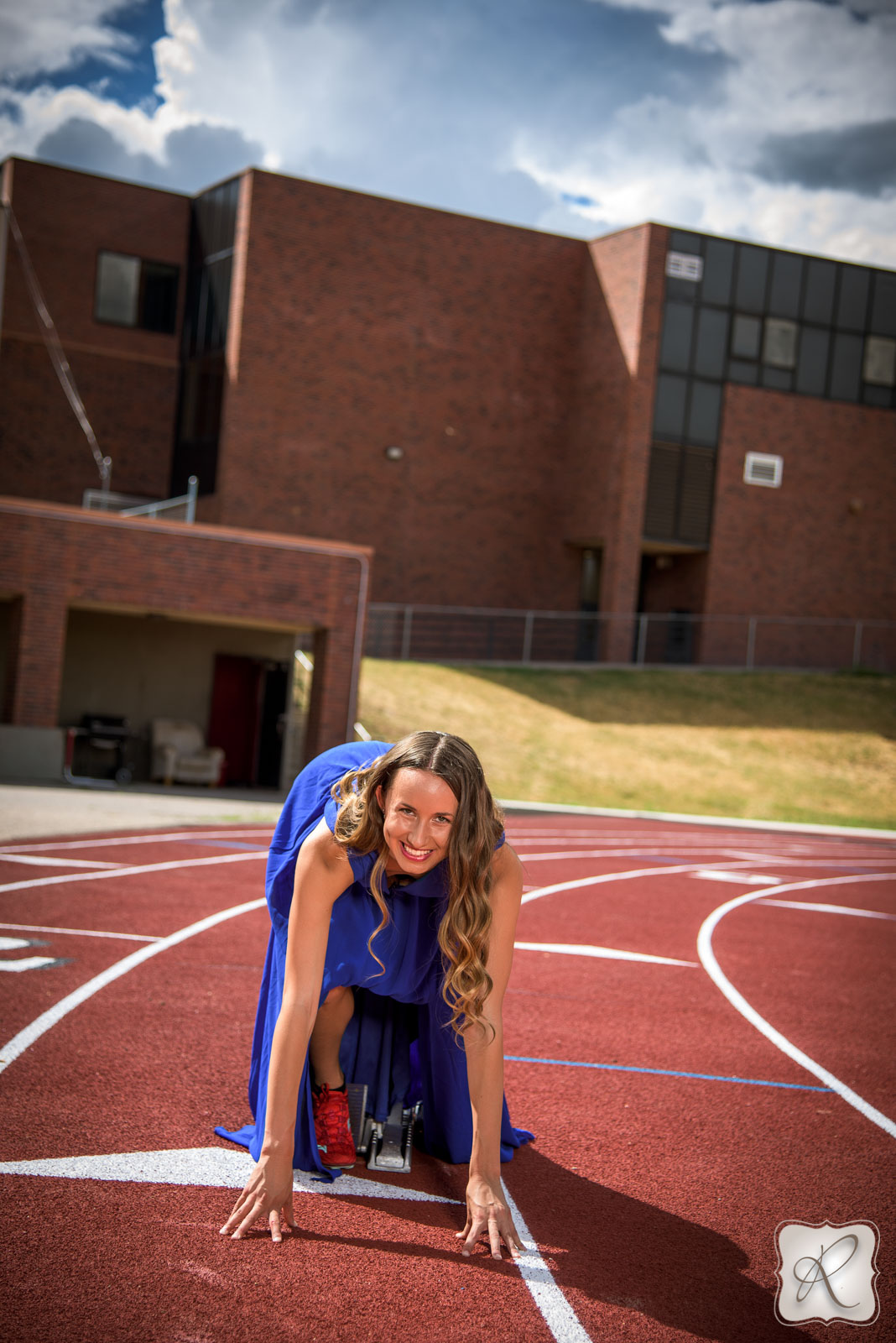 track sports senior portraits Durango Colorado