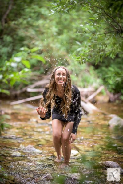 water action senior portraits by Allison Ragsdale in Durango, Colorado