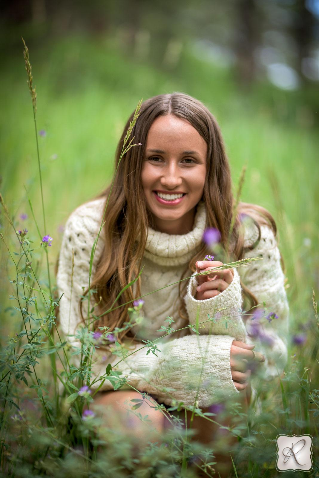 outdoor senior portraits in Durango colorado