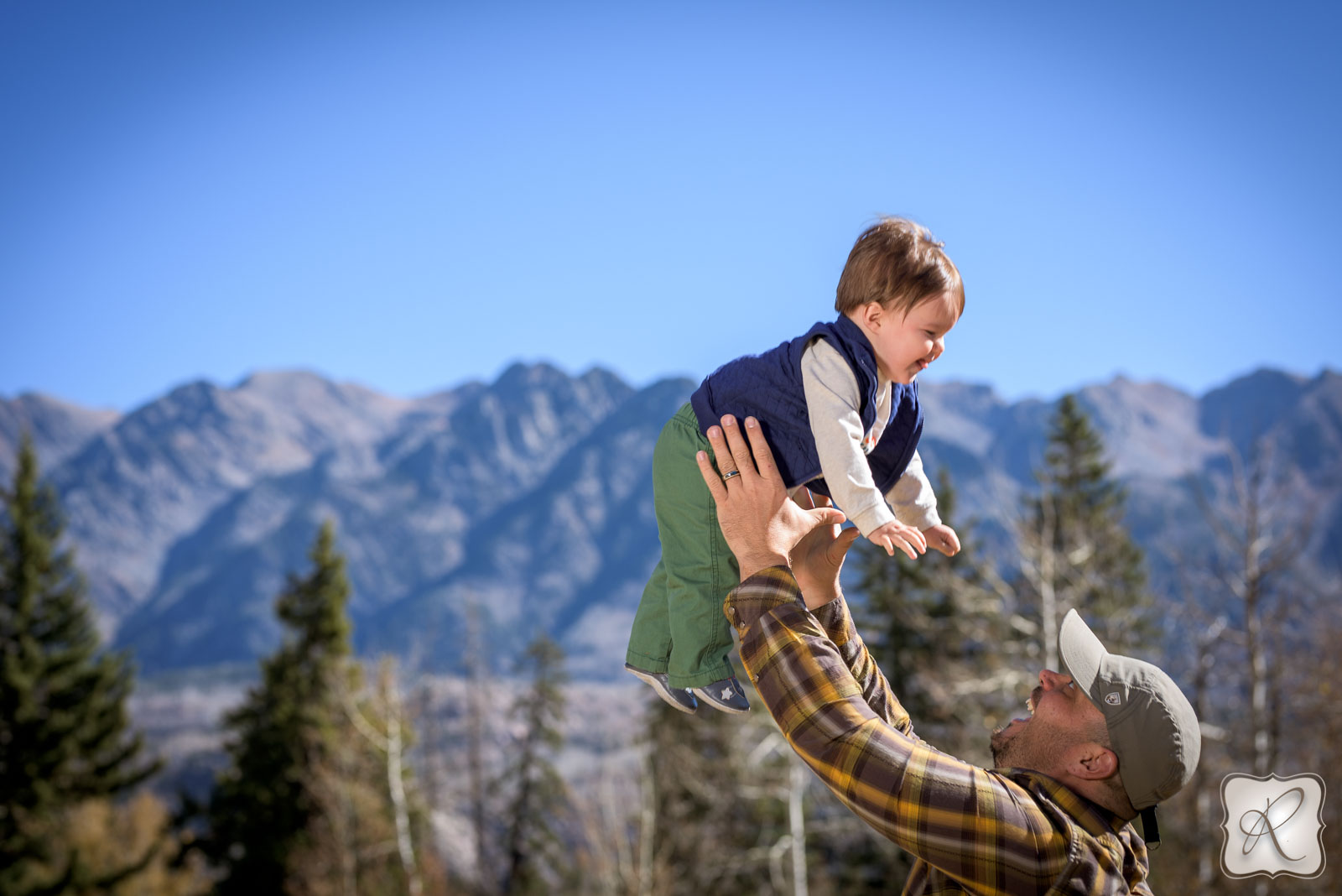 Fall family mountain portraits in Durango Colorado